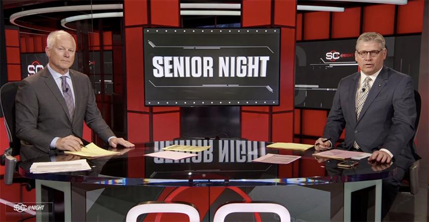 ESPN's SportsCenter showcased UC Merced's men's volleyball setter, Joey Medina, on Sunday as part of the network's #SeniorNight segment.