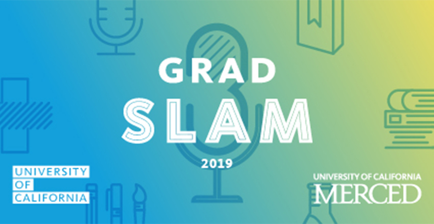 Everyone is invited to cheer on the campus's Grad Slam semi-finalists as they present their research talks from 1-4 p.m. April 18 in the California Room.